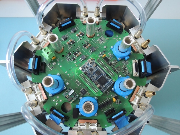 Bespoke 6-phase drive electronics to drive a PMSM motor in an underwater application.