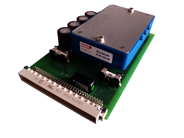 TWE-180-09_Plus: single channel drive controller for 19 Inch DIN rack mounting.